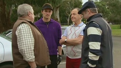 Martin Chambers, Rhys Lawson, Dr Adrian Pearce, Karl Kennedy in Neighbours Episode 6239