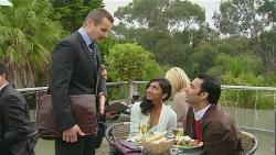 Toadie Rebecchi, Priya Kapoor, Ajay Kapoor in Neighbours Episode 6239
