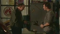 Warren Burrell, Lucas Fitzgerald in Neighbours Episode 6245