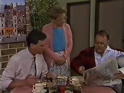 Des Clarke, Eileen Clarke, Harold Bishop in Neighbours Episode 0619