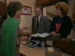 Receptionist, Harold Bishop, Madge Ramsay in Neighbours Episode 0621