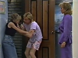 Charlene Robinson, Scott Robinson, Jane Harris in Neighbours Episode 0621