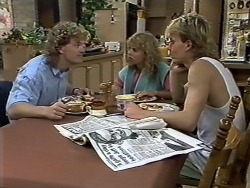 Henry Ramsay, Charlene Mitchell, Scott Robinson in Neighbours Episode 0622