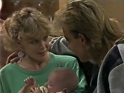 Charlene Mitchell, Jamie Clarke, Scott Robinson in Neighbours Episode 0622