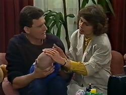 Des Clarke, Jamie Clarke, Beverly Marshall in Neighbours Episode 0624