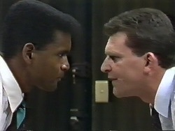 Pete Baxter, Des Clarke in Neighbours Episode 0626