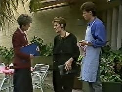 Nell Mangel, Gail Robinson, Mike Young in Neighbours Episode 0626
