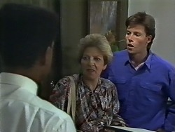Pete Baxter, Eileen Clarke, Mike Young in Neighbours Episode 0627