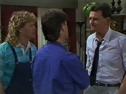 Henry Ramsay, Mike Young, Des Clarke in Neighbours Episode 0627