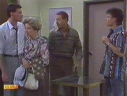 Des Clarke, Eileen Clarke, Malcolm Clarke, Mike Young in Neighbours Episode 0628