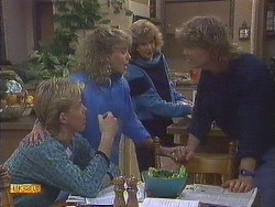 Scott Robinson, Charlene Mitchell, Madge Bishop, Henry Ramsay in Neighbours Episode 0628