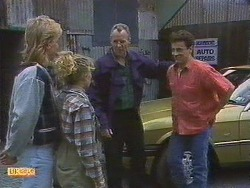 Scott Robinson, Charlene Mitchell, Jim Robinson, Tony Romeo in Neighbours Episode 0628