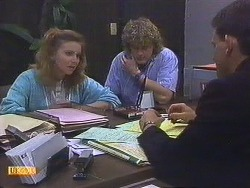 Sally Wells, Henry Ramsay, Des Clarke in Neighbours Episode 0628