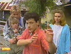Scott Robinson, Charlene Robinson, Tony Romeo, Sally Wells in Neighbours Episode 0629