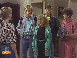 Jane Harris, Scott Robinson, Charlene Robinson, Mike Young, Nell Mangel in Neighbours Episode 0630