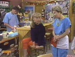 Mike Young, Jane Harris, Eileen Clarke in Neighbours Episode 0633