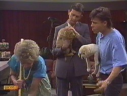 Eileen Clarke, Des Clarke, Mike Young in Neighbours Episode 0634