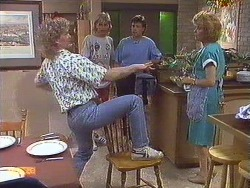 Henry Ramsay, Scott Robinson, Mike Young, Madge Bishop in Neighbours Episode 0634