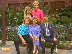 Henry Ramsay, Charlene Mitchell, Madge Bishop, Scott Robinson, Harold Bishop in Neighbours Episode 0634