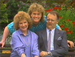 Madge Bishop, Henry Ramsay, Harold Bishop in Neighbours Episode 0634
