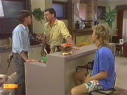 Mike Young, Des Clarke, Scott Robinson in Neighbours Episode 0639