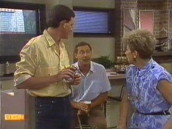 Des Clarke, Malcolm Clarke, Eileen Clarke in Neighbours Episode 0639