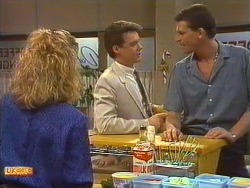 Sally Wells, Paul Robinson, Des Clarke in Neighbours Episode 0639