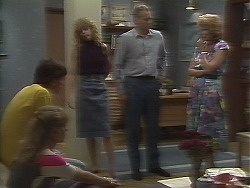 Mike Young, Jane Harris, Charlene Robinson, Jim Robinson, Madge Ramsay in Neighbours Episode 0641