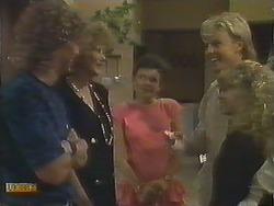 Henry Ramsay, Madge Ramsay, Lucy Robinson, Scott Robinson, Charlene Robinson in Neighbours Episode 0643