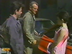 Tony Romeo, Jim Robinson, Lucy Robinson in Neighbours Episode 0644