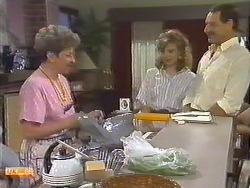 Eileen Clarke, Sally Wells, Malcolm Clarke in Neighbours Episode 0645