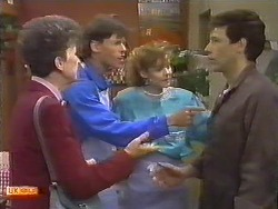 Nell Mangel, Mike Young, Sally Wells, Tony Romeo in Neighbours Episode 0645