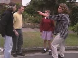Simon Palmer, Stuart Maughan, Libby Kennedy, Sonny Hammond in Neighbours Episode 2571