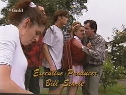 Kimberley Stevens, Stonie Rebecchi, Malcolm Kennedy, Sonny Hammond, Libby Kennedy, Karl Kennedy in Neighbours Episode 2572