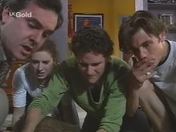 Karl Kennedy, Kimberley Stevens, Luke Handley, Malcolm Kennedy in Neighbours Episode 2572