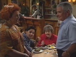 Cheryl Stark, Sam Kratz, Kev Duve, Marlene Kratz, Lou Carpenter in Neighbours Episode 2573