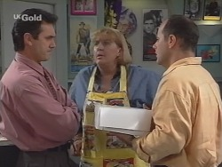 Karl Kennedy, Angie Rebecchi, Philip Martin in Neighbours Episode 2576