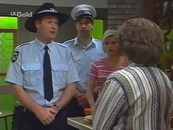Sheriff Rafferty, Joanna Hartman, Marlene Kratz in Neighbours Episode 2578