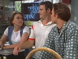 Libby Kennedy, Stonie Rebecchi, Malcolm Kennedy in Neighbours Episode 2579