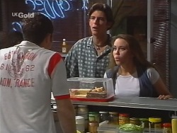 Stonie Rebecchi, Malcolm Kennedy, Libby Kennedy in Neighbours Episode 2579