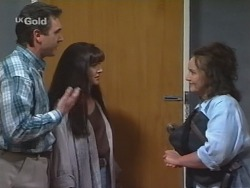 Karl Kennedy, Susan Kennedy, Pam Willis in Neighbours Episode 2579
