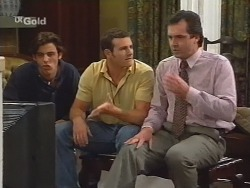 Malcolm Kennedy, Stonie Rebecchi, Karl Kennedy in Neighbours Episode 2579