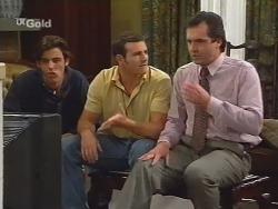 Malcolm Kennedy, Stonie Rebecchi, Karl Kennedy in Neighbours Episode 2579