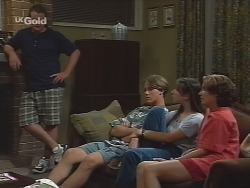 Toadie Rebecchi, Billy Kennedy, Melissa Drenth, Georgia Brown in Neighbours Episode 2581