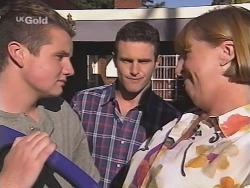 Toadie Rebecchi, Stonie Rebecchi, Angie Rebecchi in Neighbours Episode 2581