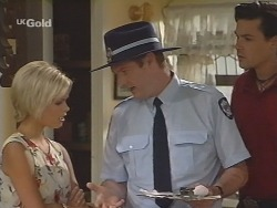Joanna Hartman, Sheriff Rafferty, Sam Kratz in Neighbours Episode 2582
