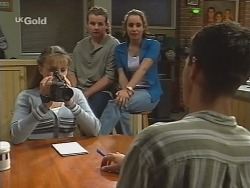 Libby Kennedy, Toadie Rebecchi, Georgia Brown, Rupert Sprod in Neighbours Episode 2582