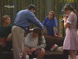 Billy Kennedy, Karl Kennedy, Toadie Rebecchi, Georgia Brown, Libby Kennedy in Neighbours Episode 2582