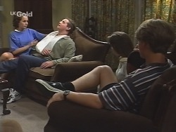 Georgia Brown, Toadie Rebecchi, Melissa Drenth, Billy Kennedy in Neighbours Episode 2583
