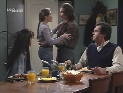 Susan Kennedy, Libby Kennedy, Darren Stark, Karl Kennedy in Neighbours Episode 2704
